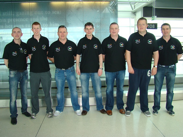 Ireland Team arrive in Poland