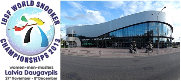 Daugavpils to host IBSF World Snooker Championship 2013