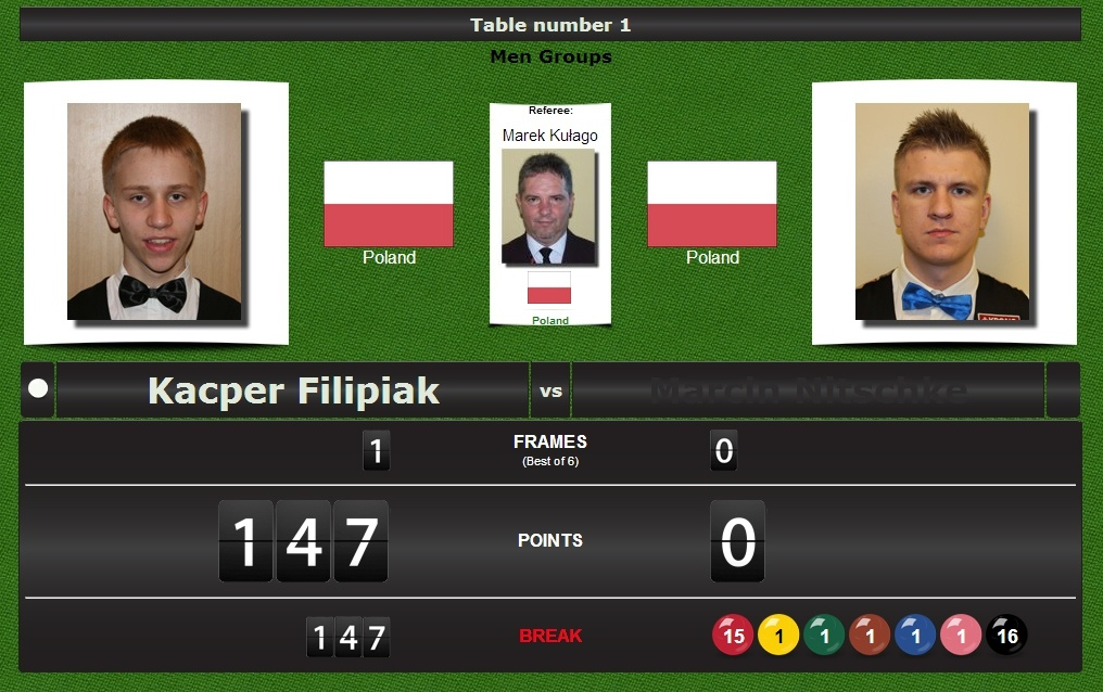 First Polish official 147 break