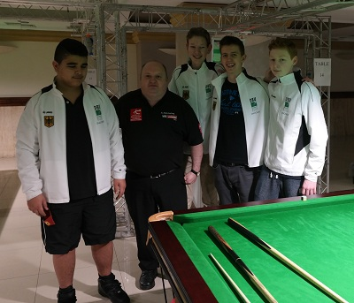 EBSA Cue Zone Day 4 goes German