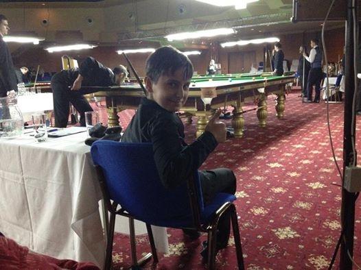 Jan Matejicek snooker star at 11