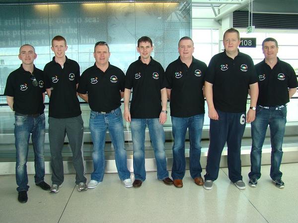 Ireland Team arrive in Poland
